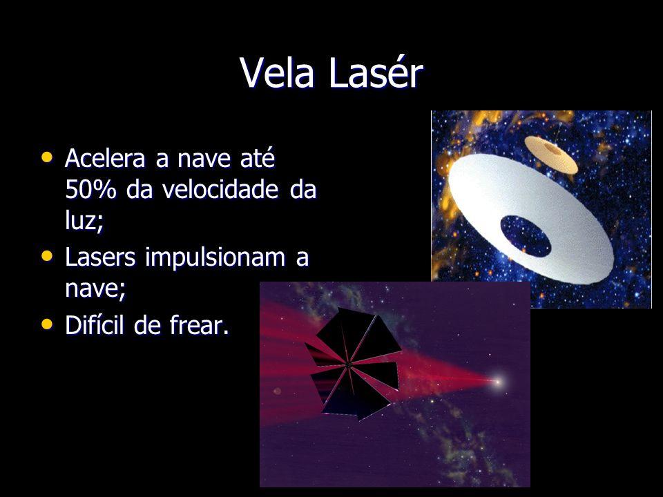 Vela Lasér Acelera a nave até 50% da velocidade da luz;
