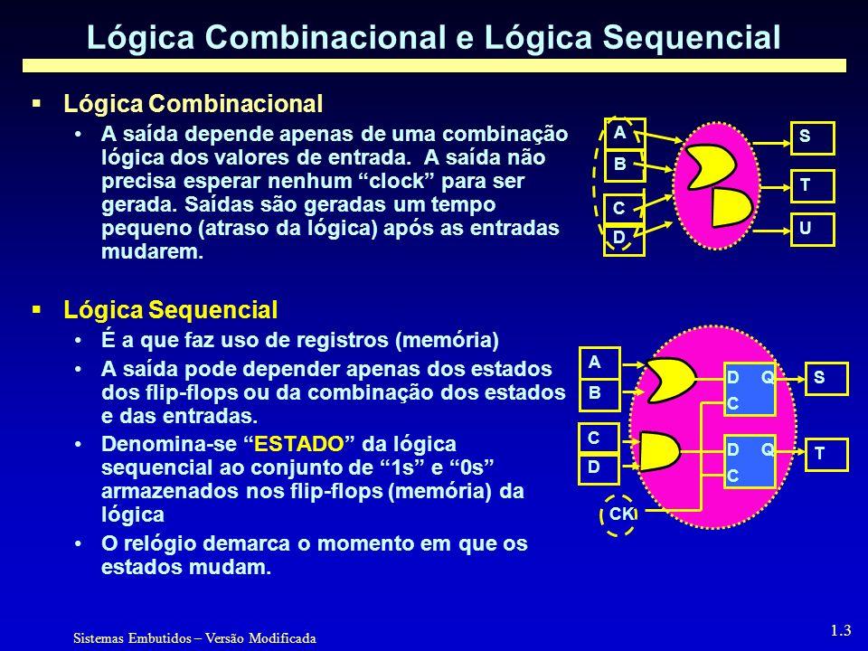 Lógica Combinacional e Lógica Sequencial