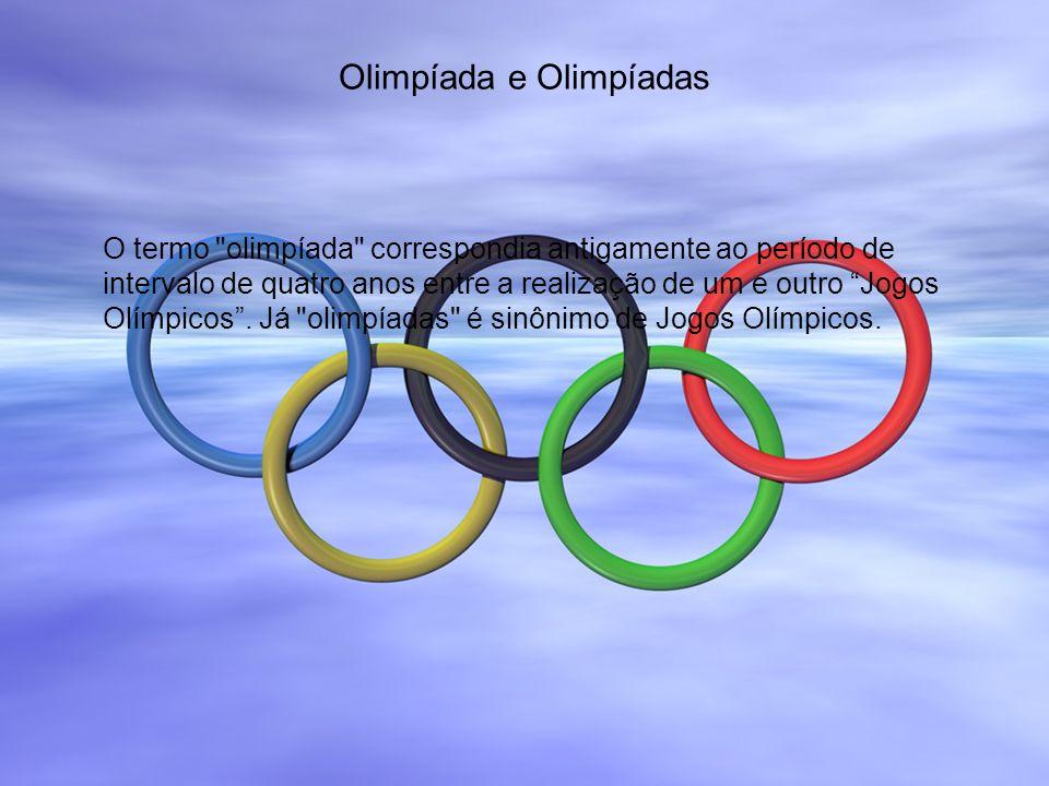 Olimpíada e Olimpíadas