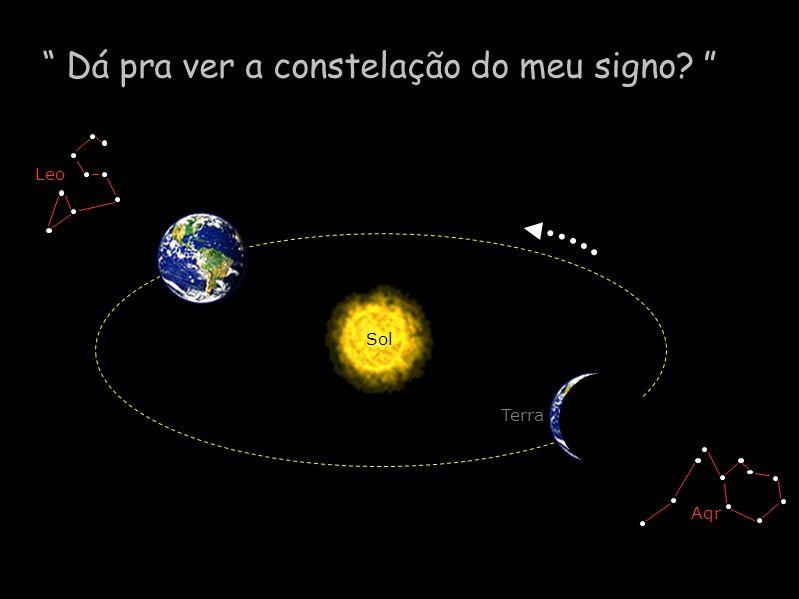 Dá pra ver a constelação do meu signo