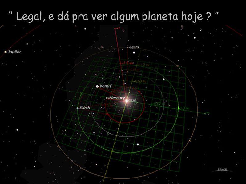 Diapositivo Visual Legal, e dá pra ver algum planeta hoje