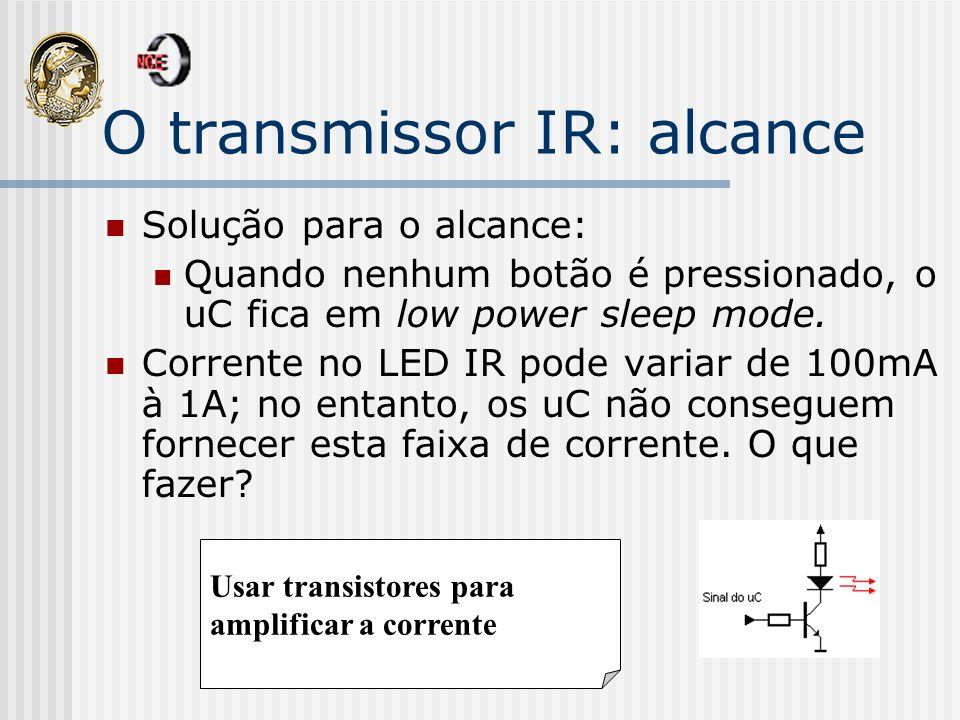 O transmissor IR: alcance