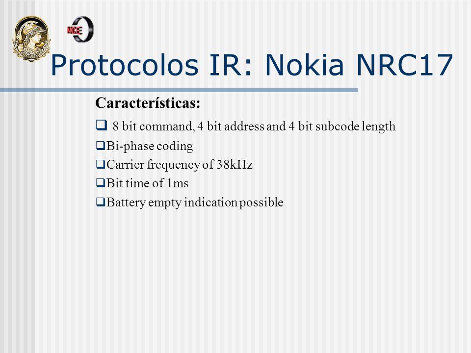 Protocolos IR: Nokia NRC17
