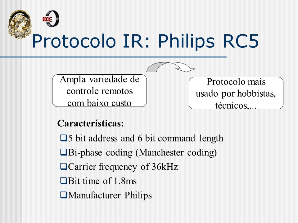 Protocolo IR: Philips RC5