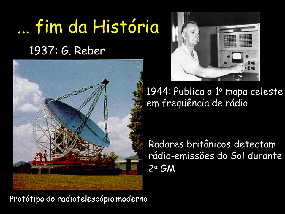 ... fim da História 1937: G. Reber