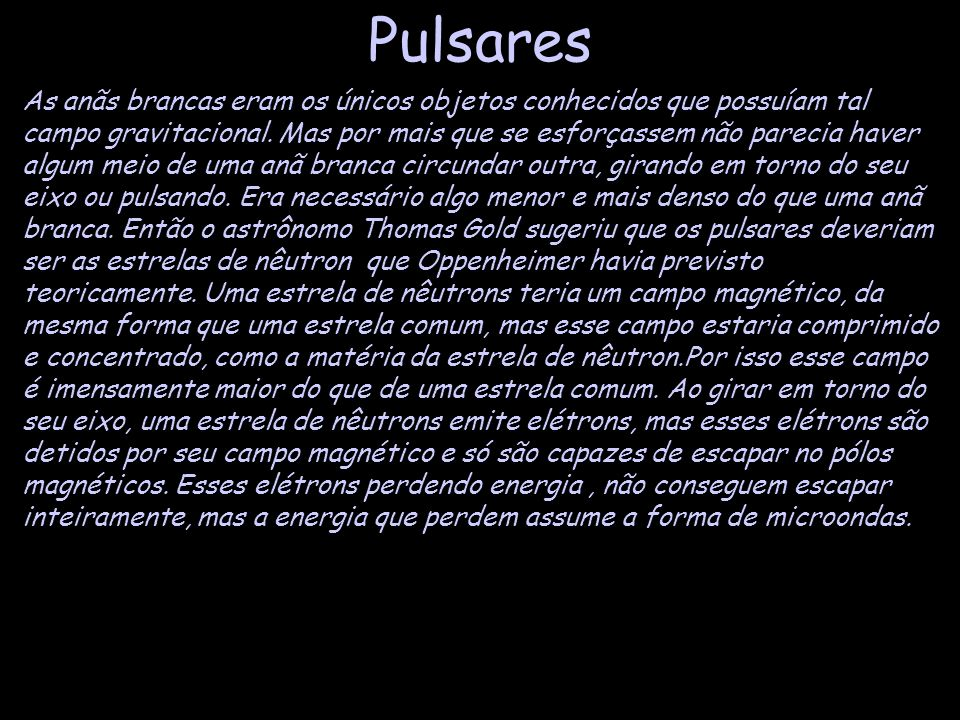 Pulsares