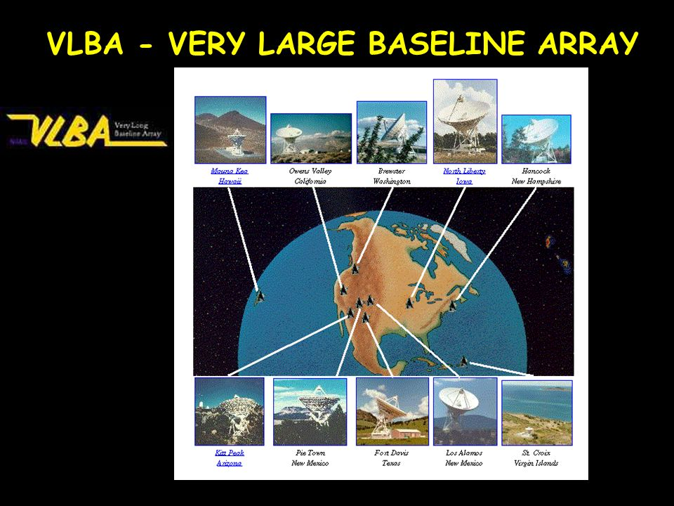 VLBA - VERY LARGE BASELINE ARRAY