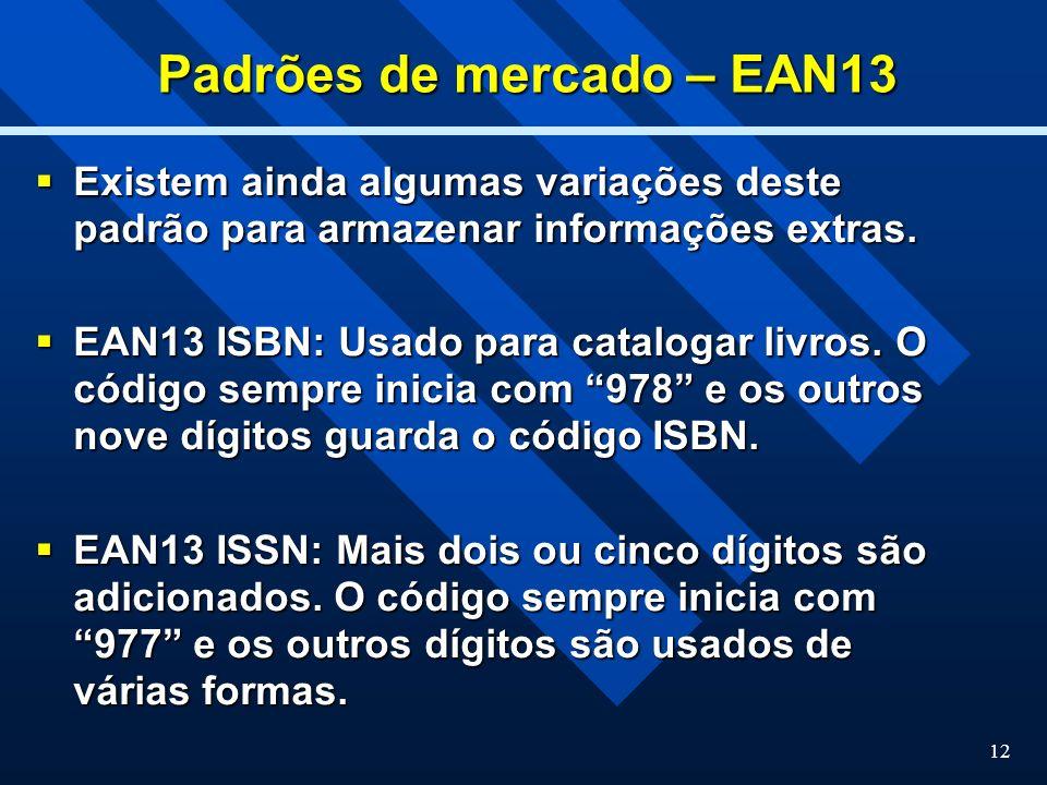 Padrões de mercado – EAN13
