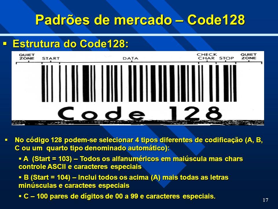 Padrões de mercado – Code128