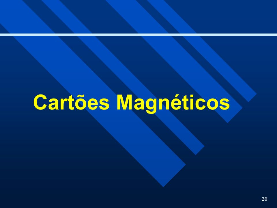 Cartões Magnéticos
