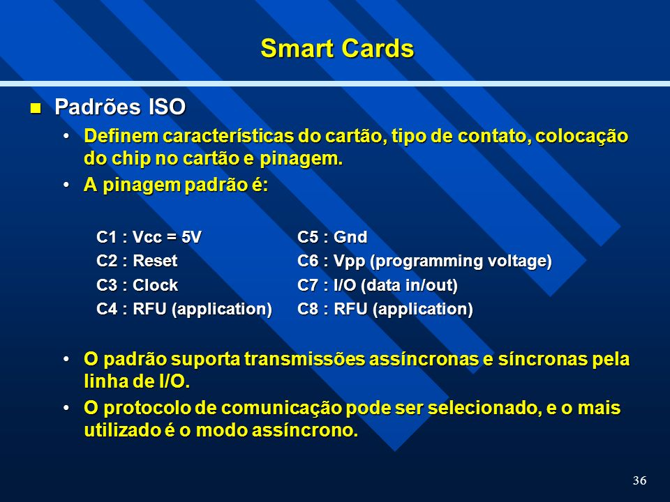 Smart Cards Padrões ISO