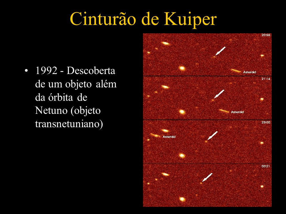 Cinturão de Kuiper 1992 - Descoberta de um objeto além da órbita de Netuno (objeto transnetuniano)