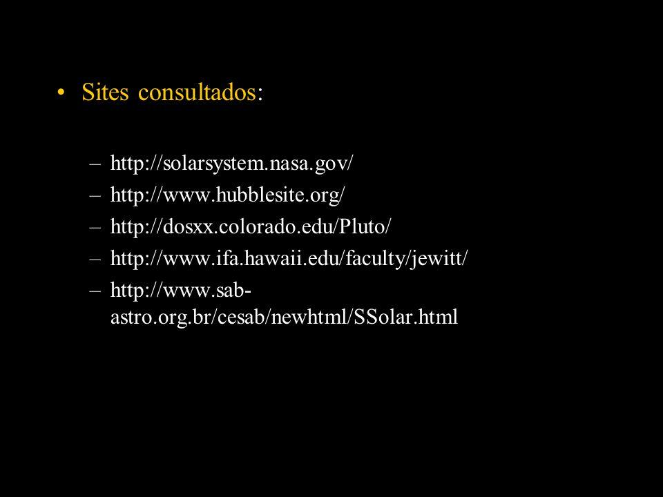 Sites consultados: http://solarsystem.nasa.gov/