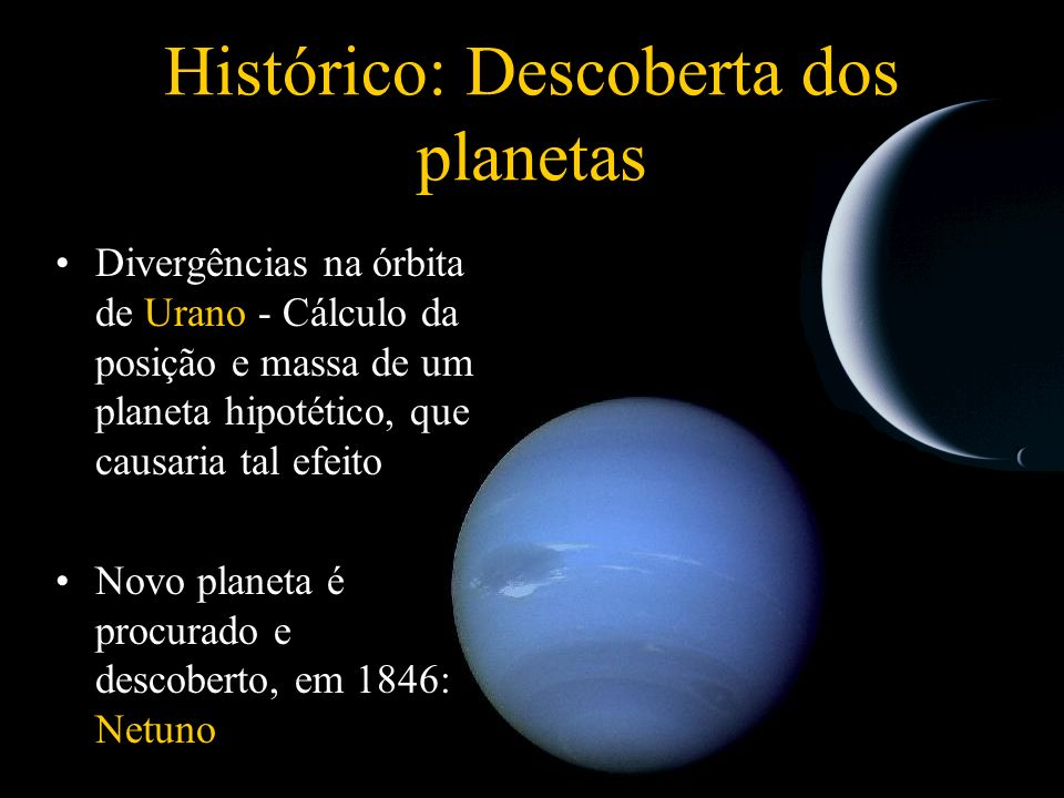 Histórico: Descoberta dos planetas