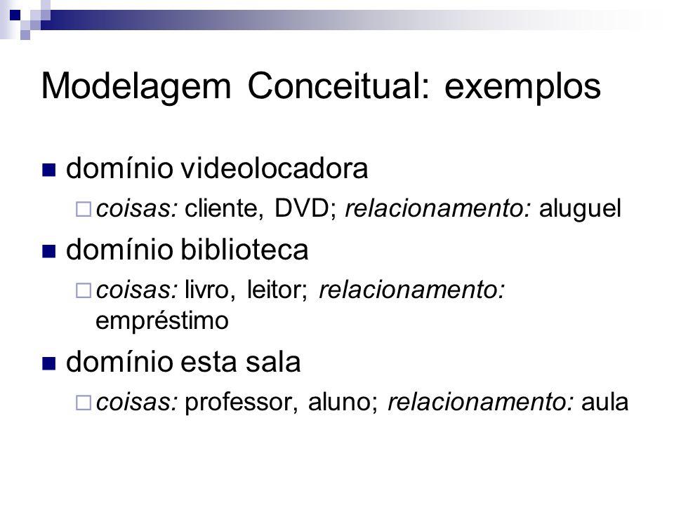 Modelagem Conceitual: exemplos