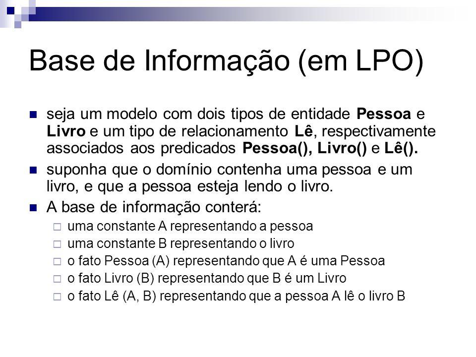 Base de Informação (em LPO)
