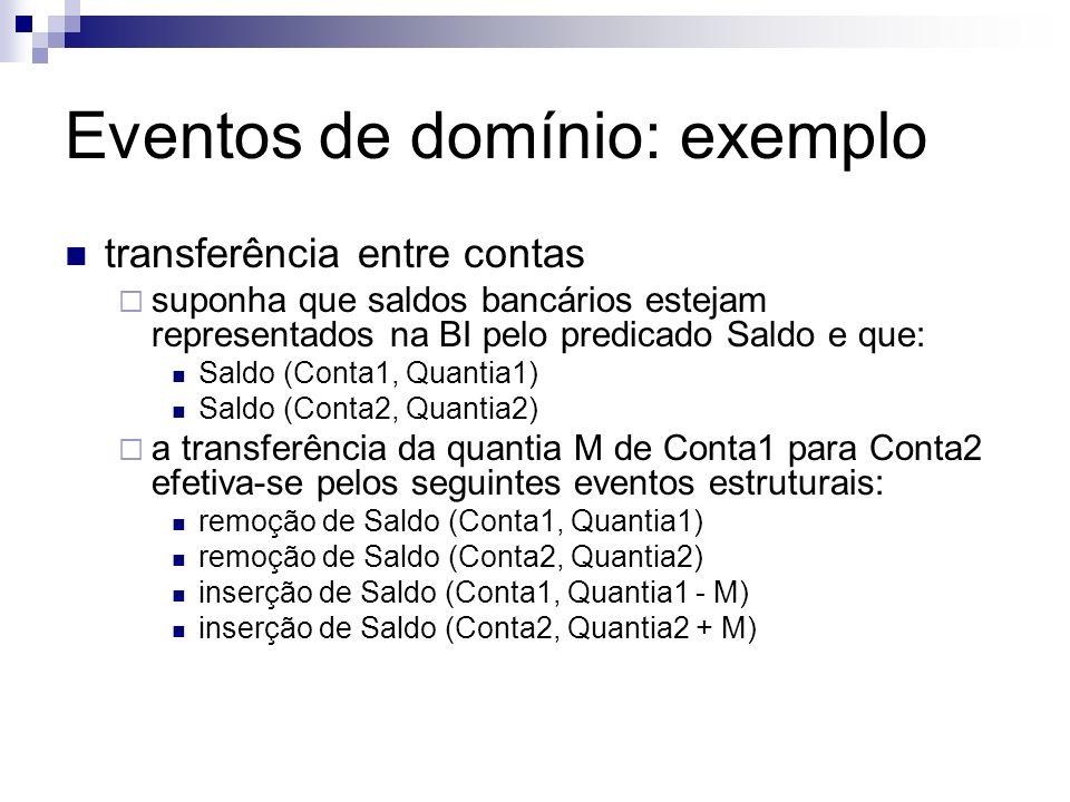 Eventos de domínio: exemplo