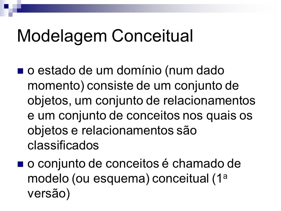 Modelagem Conceitual