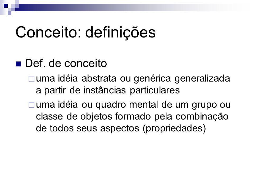 Conceito: definições Def. de conceito