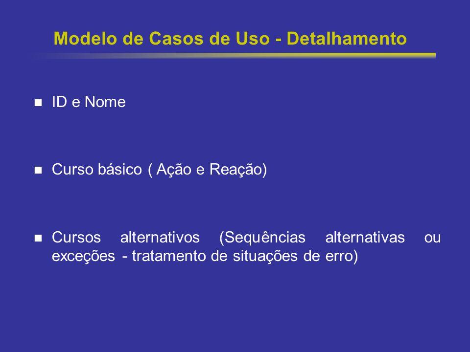 Modelo de Casos de Uso - Detalhamento