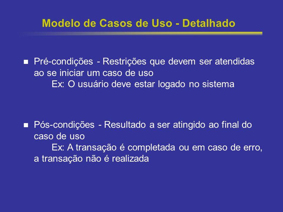 Modelo de Casos de Uso - Detalhado