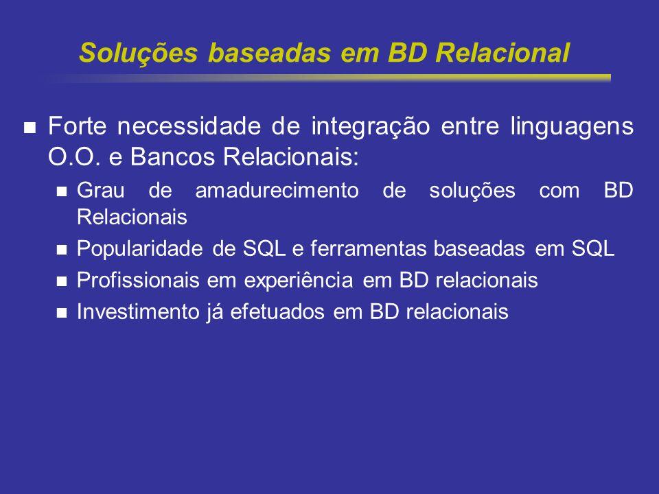 Soluções baseadas em BD Relacional