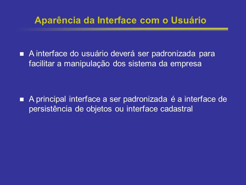 Aparência da Interface com o Usuário