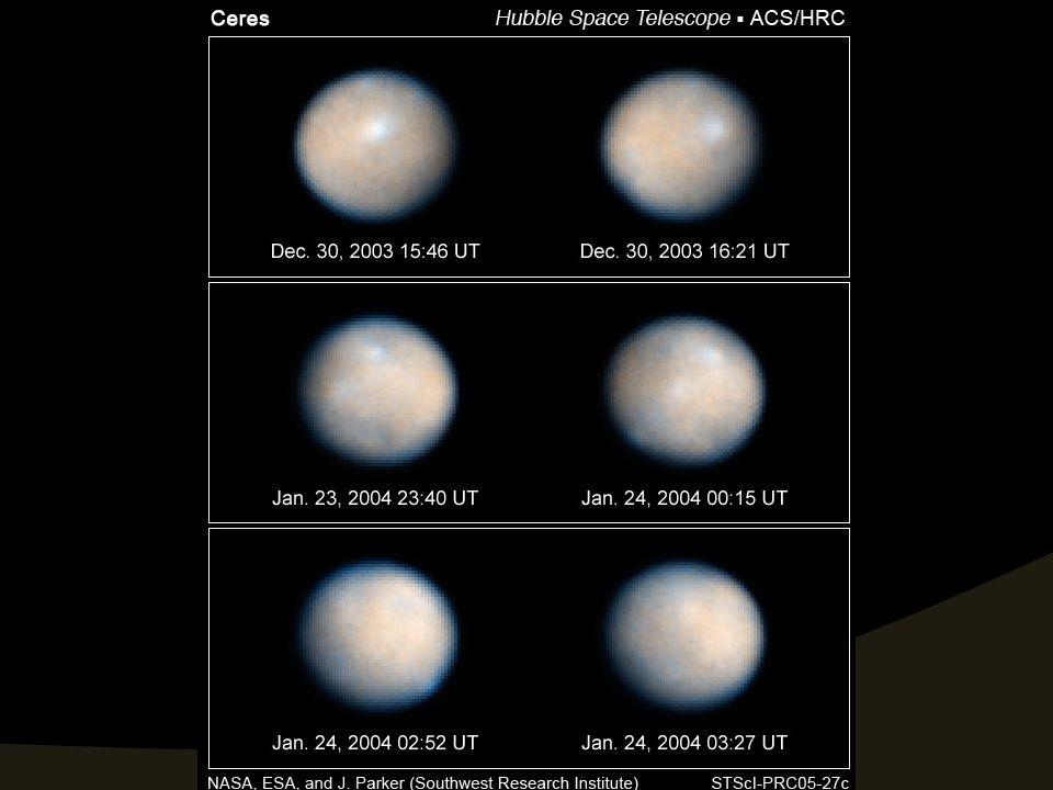 Rotação de Ceres. Imagem: http://hubblesite.org/gallery/album/solar_system_collection/pr2005027e/web_print Acesso em 5 de Julho de 2008.