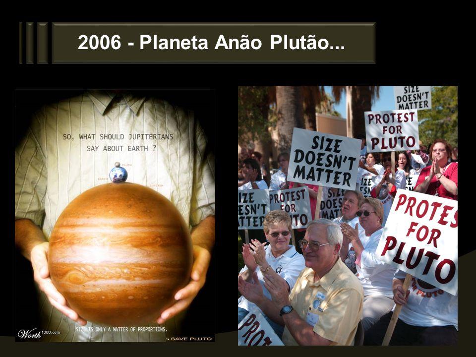 2006 - Planeta Anão Plutão...