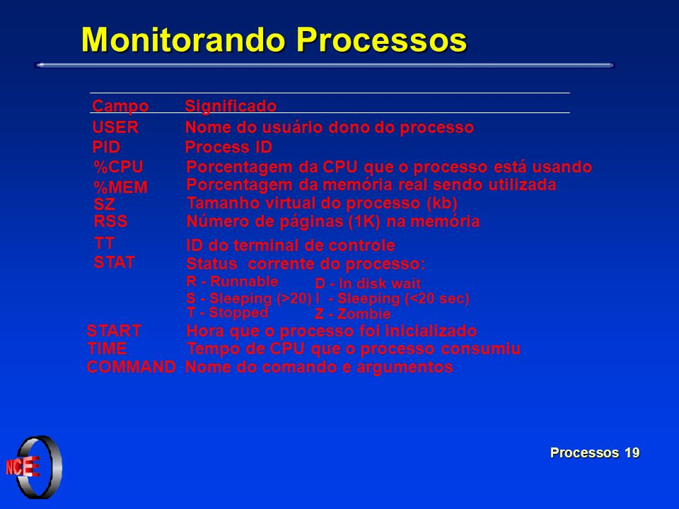 Monitorando Processos