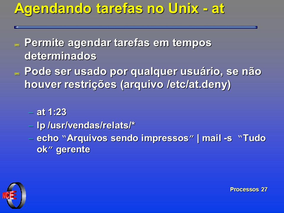 Agendando tarefas no Unix - at