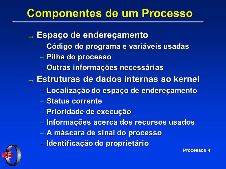 Componentes de um Processo