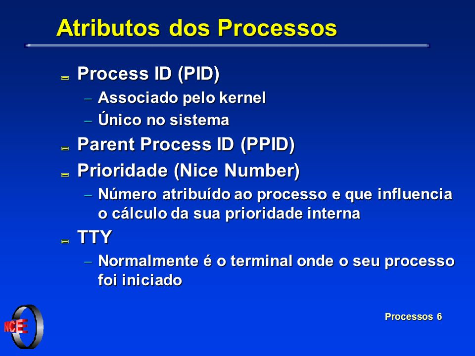 Atributos dos Processos