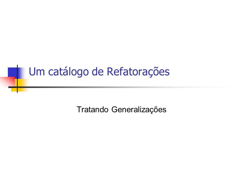 Um catálogo de Refatorações
