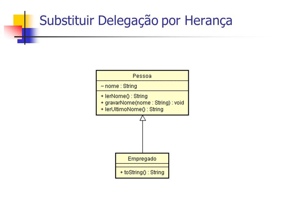Substituir Delegação por Herança