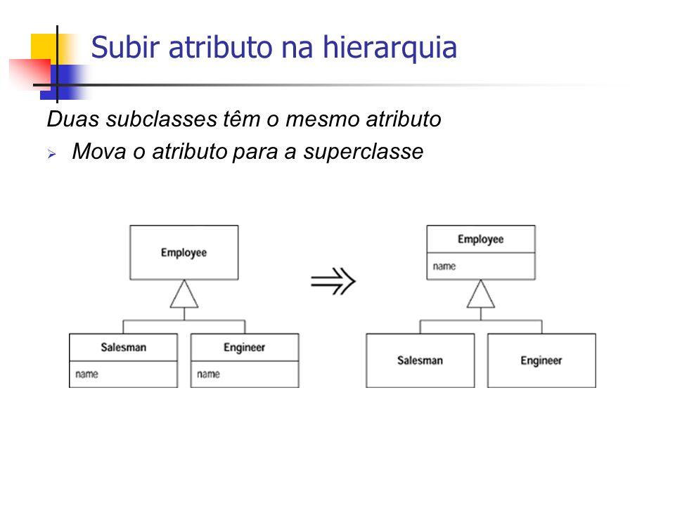 Subir atributo na hierarquia