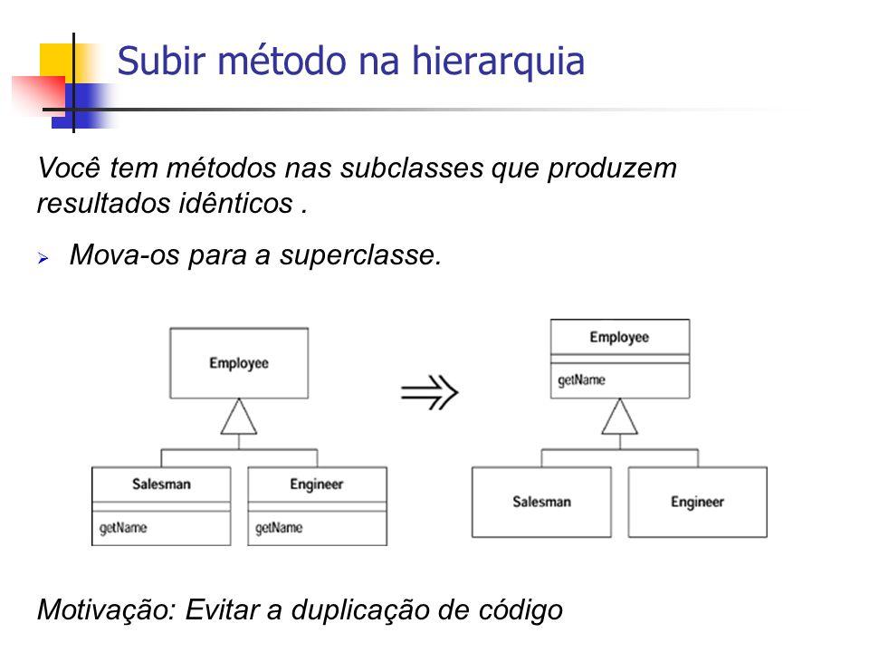 Subir método na hierarquia