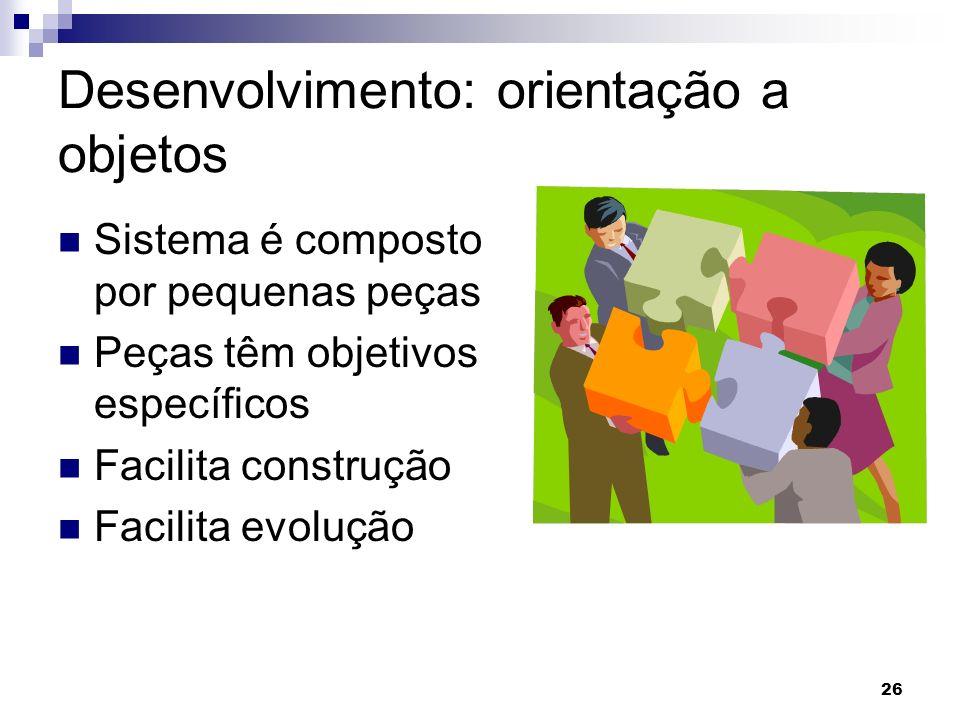 Desenvolvimento: orientação a objetos