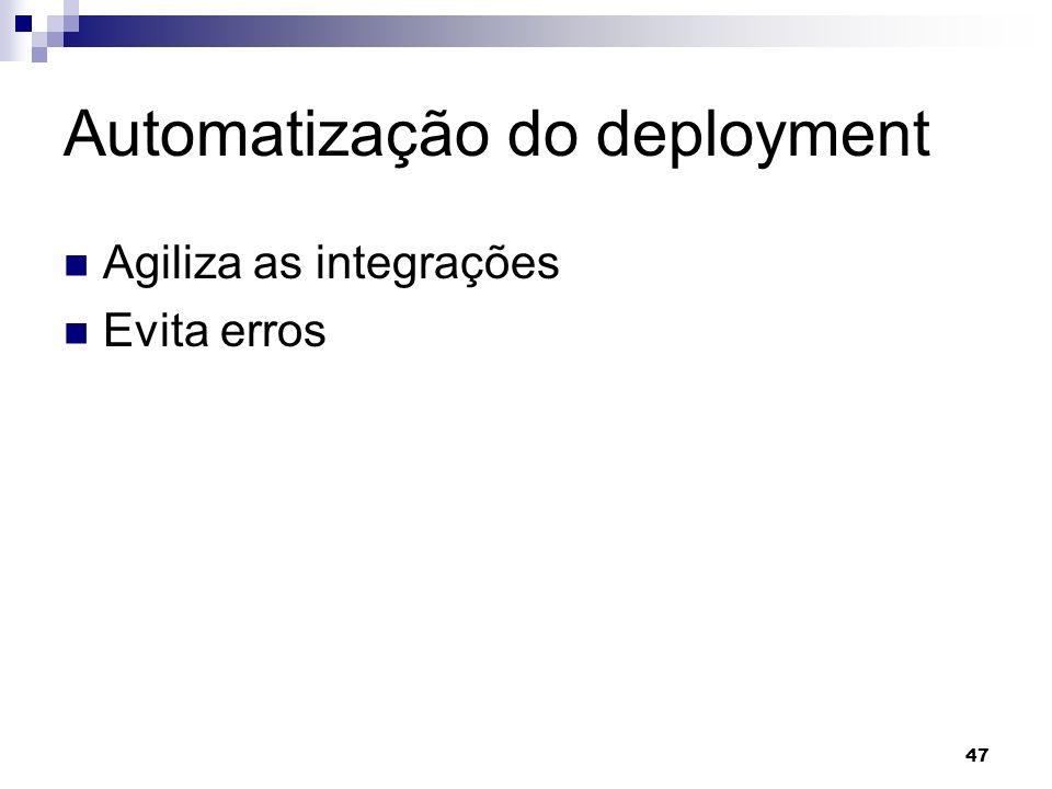 Automatização do deployment