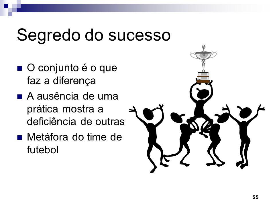 Segredo do sucesso O conjunto é o que faz a diferença