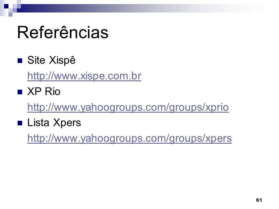 Referências Site Xispê http://www.xispe.com.br XP Rio