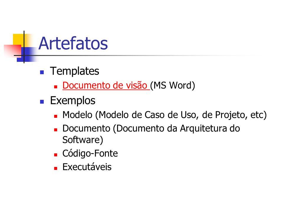 Artefatos Templates Exemplos Documento de visão (MS Word)