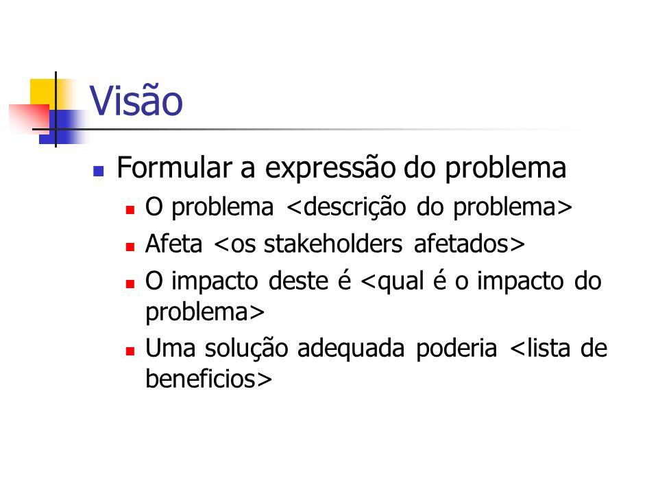 Visão Formular a expressão do problema