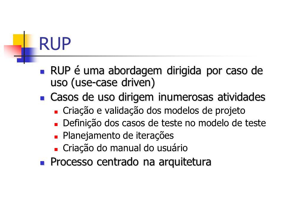 RUP RUP é uma abordagem dirigida por caso de uso (use-case driven)