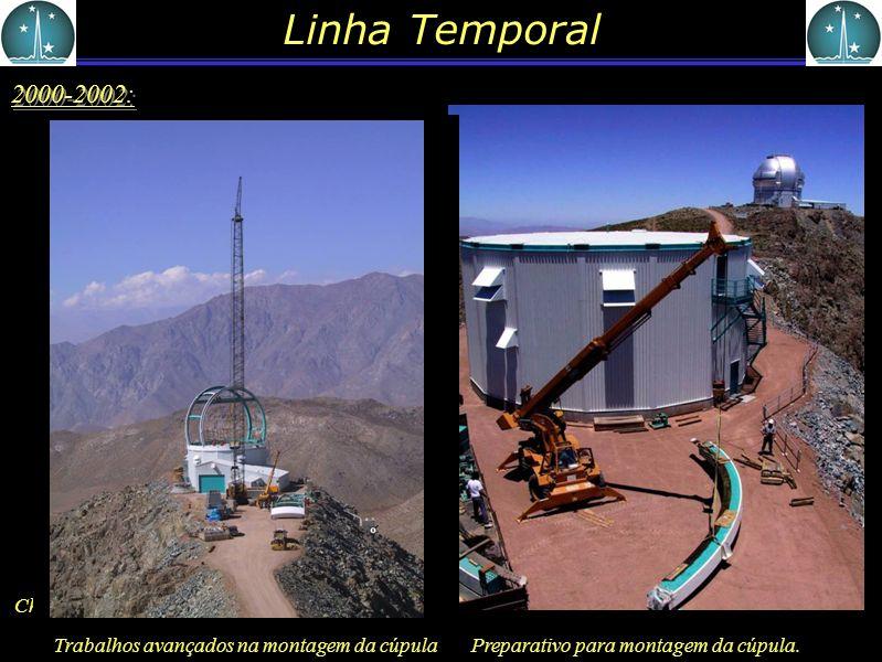 Linha Temporal 2000-2002: Preparativo para montagem da cúpula.