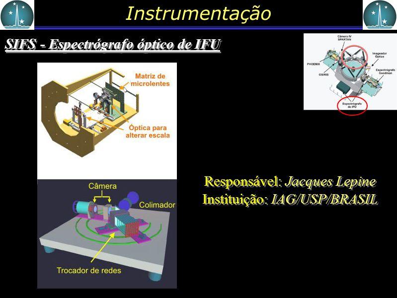 Responsável: Jacques Lepine Instituição: IAG/USP/BRASIL