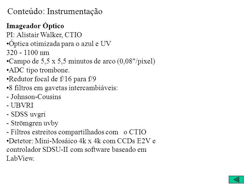 Conteúdo: Instrumentação
