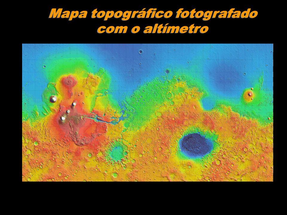 Mapa topográfico fotografado