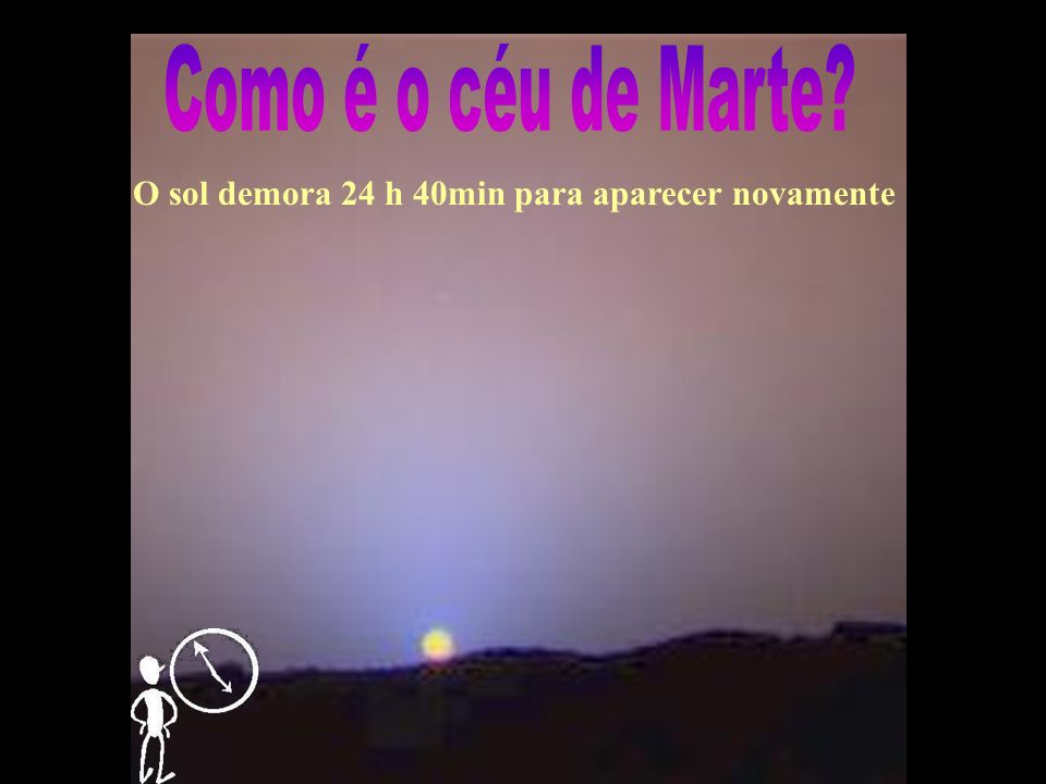 Como é o céu de Marte O sol demora 24 h 40min para aparecer novamente