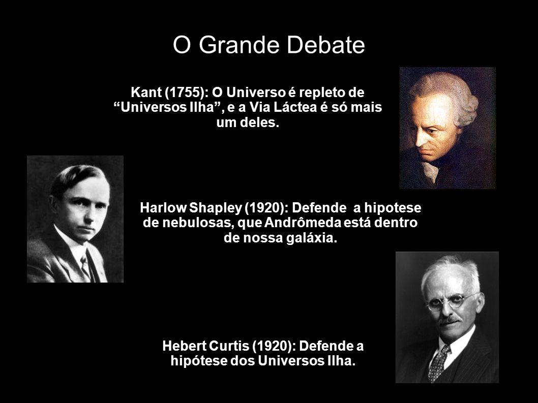 Hebert Curtis (1920): Defende a hipótese dos Universos Ilha.